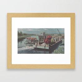 GEM BOAT Framed Art Print