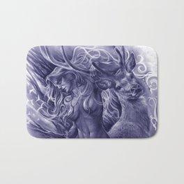The Fawn (Blue Version) Bath Mat