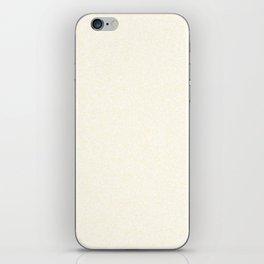 Spacey Melange - White and Cornsilk Yellow iPhone Skin