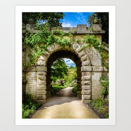 Archway, Chatsworth House. Art Print
