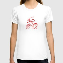 Bicycle - Red Ribbon Rider T-shirt
