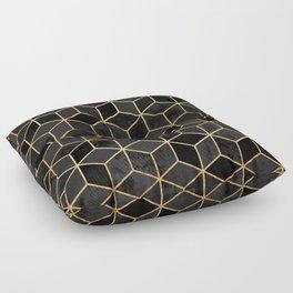 Black Cubes Floor Pillow