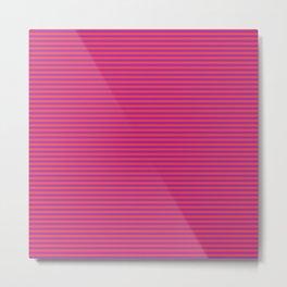 Even Horizontal Stripes, Red and Purple, XS Metal Print