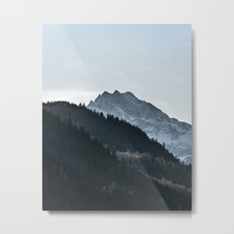 Mountains and Layers in the Bavarian Alps Metal Print
