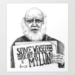 Homeless Man Art Print