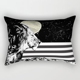 Lion in Space Rectangular Pillow