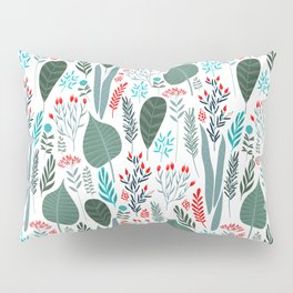 Colorful tropical laves pattern Pillow Sham