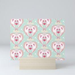 Narwhals in Love Mini Art Print