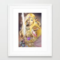 zelda Framed Art Prints featuring Zelda by Mika