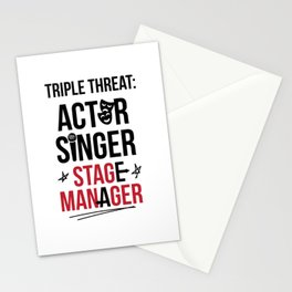 Triple Threat| Theater | Actor Singer and Stage Manager Stationery Cards