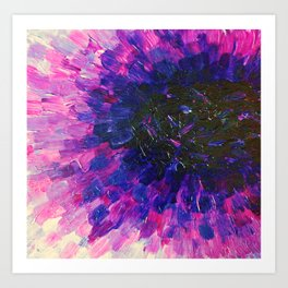 VACANCY - LIMITLESS Bold Eggplant Plum Purple Abstract Acrylic Painting Floral Macro Colorful Void Art Print