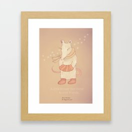 Christmas creatures- The Little Mouse Framed Art Print