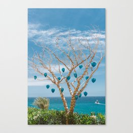Cabo Glass Hearts Canvas Print