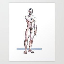 RYAN, Nude Male by Frank-Joseph Art Print