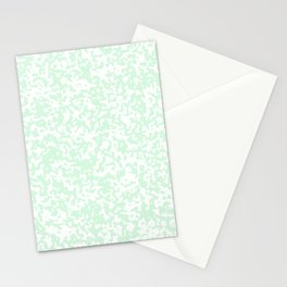 Small Spots - White and Pastel Green Stationery Cards