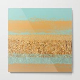 Harvest Landscape Metal Print