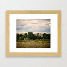 Bodiam Castle From Bodiam Station Framed Art Print