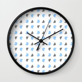 Symmetric patterns 163 blue and grey Wall Clock