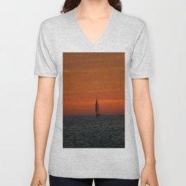 Sunset Sailing Unisex V-Neck