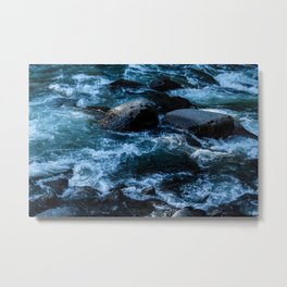 Like Stones Under Rushing Water Metal Print