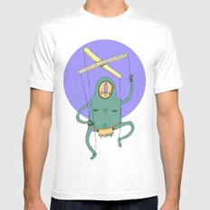 Puppet White MEDIUM Mens Fitted Tee