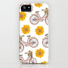 Sunflowers and Bikes! iPhone Case