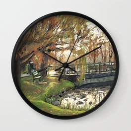 Charles River Esplanade 3 Wall Clock