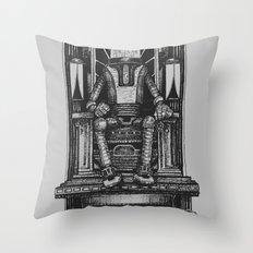 Pax Robota - B&W Throw Pillow