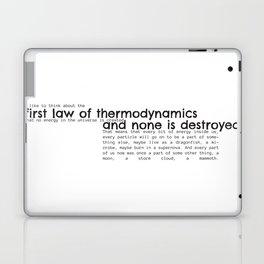 First Law of Thermodynamics Laptop & iPad Skin