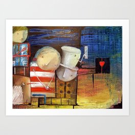 Waiting For The Voice Of The Heart Art Print