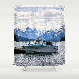 Maligne Lake Shower Curtain