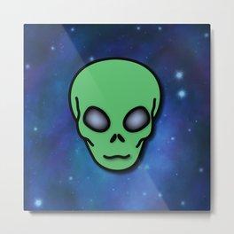 Alien in Space Metal Print