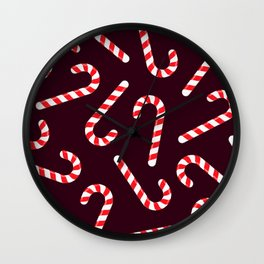 Candy Canes! Wall Clock