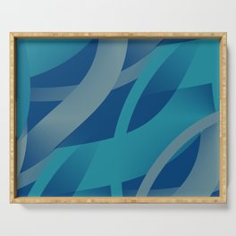 Riptide - Abstract Serving Tray