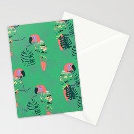 Pretty Polly green palm Stationery Cards