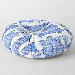 Victorian Lounge – Navy Palette Floor Pillow