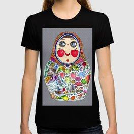 'Cheeks like apples' Matryoshka doll T-shirt