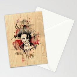 Lisbeth Salander - Fuck You Stationery Cards