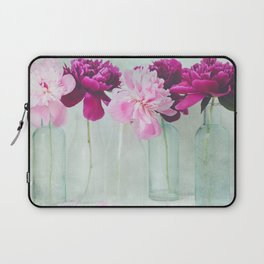 Bottles of Peonies All in a Row Laptop Sleeve