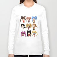 anime Long Sleeve T-shirts featuring Anime Pigtails by artwaste