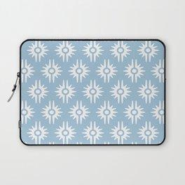 Mid Century Modern Bang Pattern 271 Pale Blue Laptop Sleeve