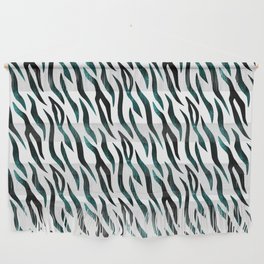 Here Kitty Kitty - Teal Wall Hanging