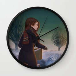 Morning frost Wall Clock