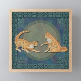 Celtic Cats - Ginger Cats Framed Mini Art Print