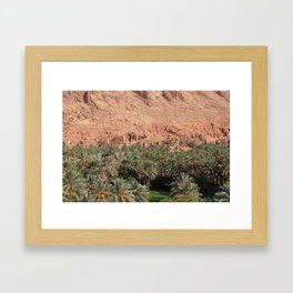 Oisis in Tinghir south of the High Atlas in Morocco Framed Art Print