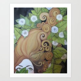 Mind of her own. Art Print