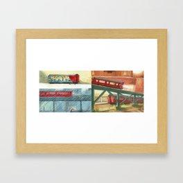 Subway Seasons Framed Art Print
