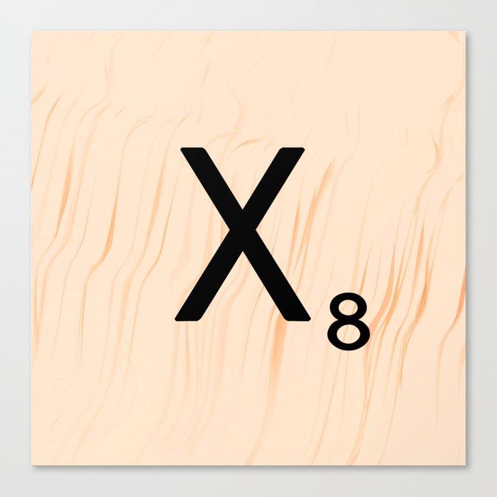 Scrabble Letter X - Scrabble Art and Apparel Canvas Print