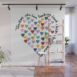 Hearts Heart Teacher Wall Mural