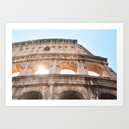 145. Coliseum and light, Rome Art Print